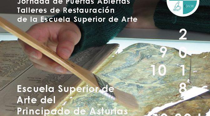 #14ODiaCR: Jornada de Puertas Abiertas en los talleres de Restauración de la Escuela Superior de Arte de Asturias